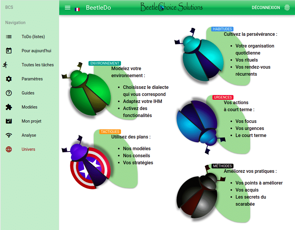 L'univers des scarabées